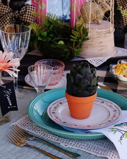 Easter Picnic tablescape