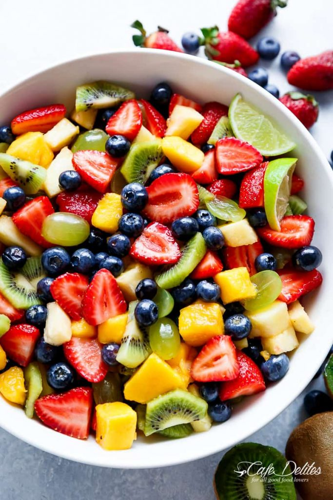 Colorful, easy fruit salad