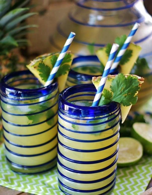 Pineapple Cilantro Lime non alcoholic sparkling drink