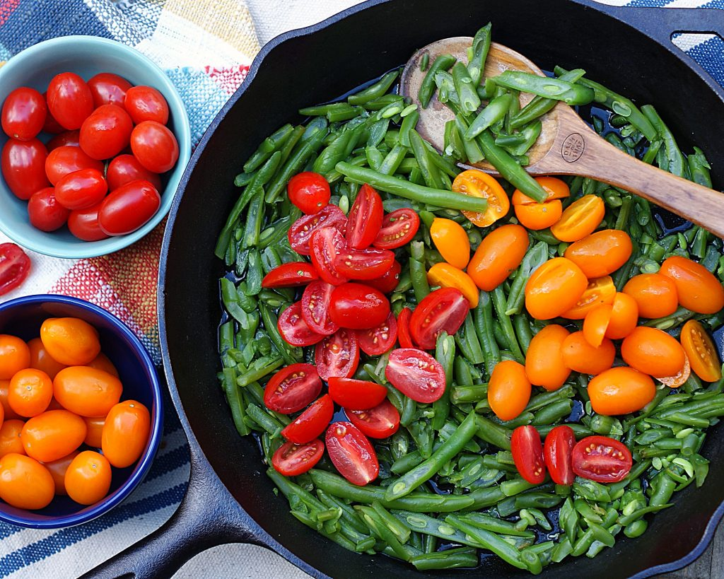 The ingredients for Italian Green Bean Salad