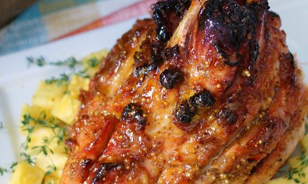 Pineapple Mustard Glazed Ham