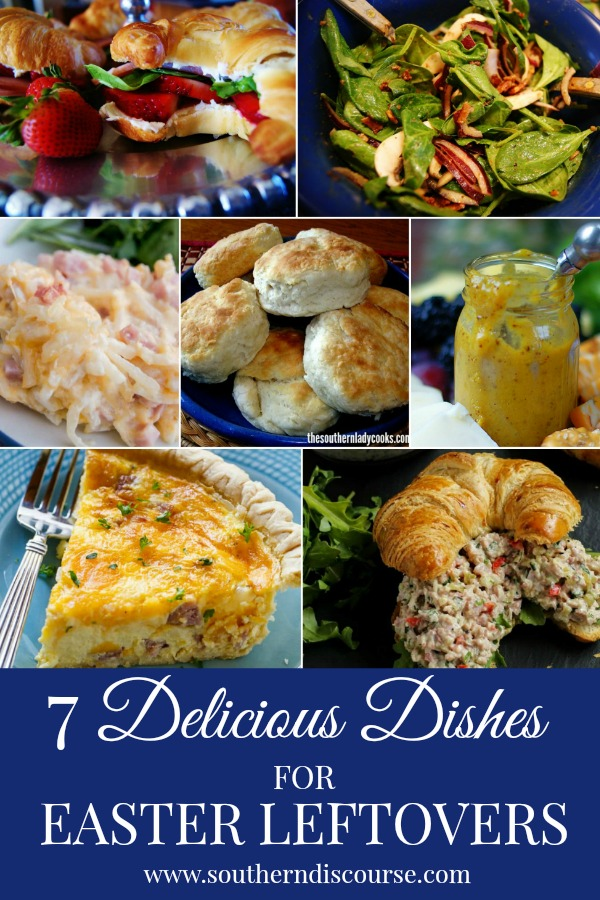 7 Delicious Dishes for Easter Leftovers!  Put that ham and those Easter eggs to good use!  #southerndiscourse #ham #easter #leftovers