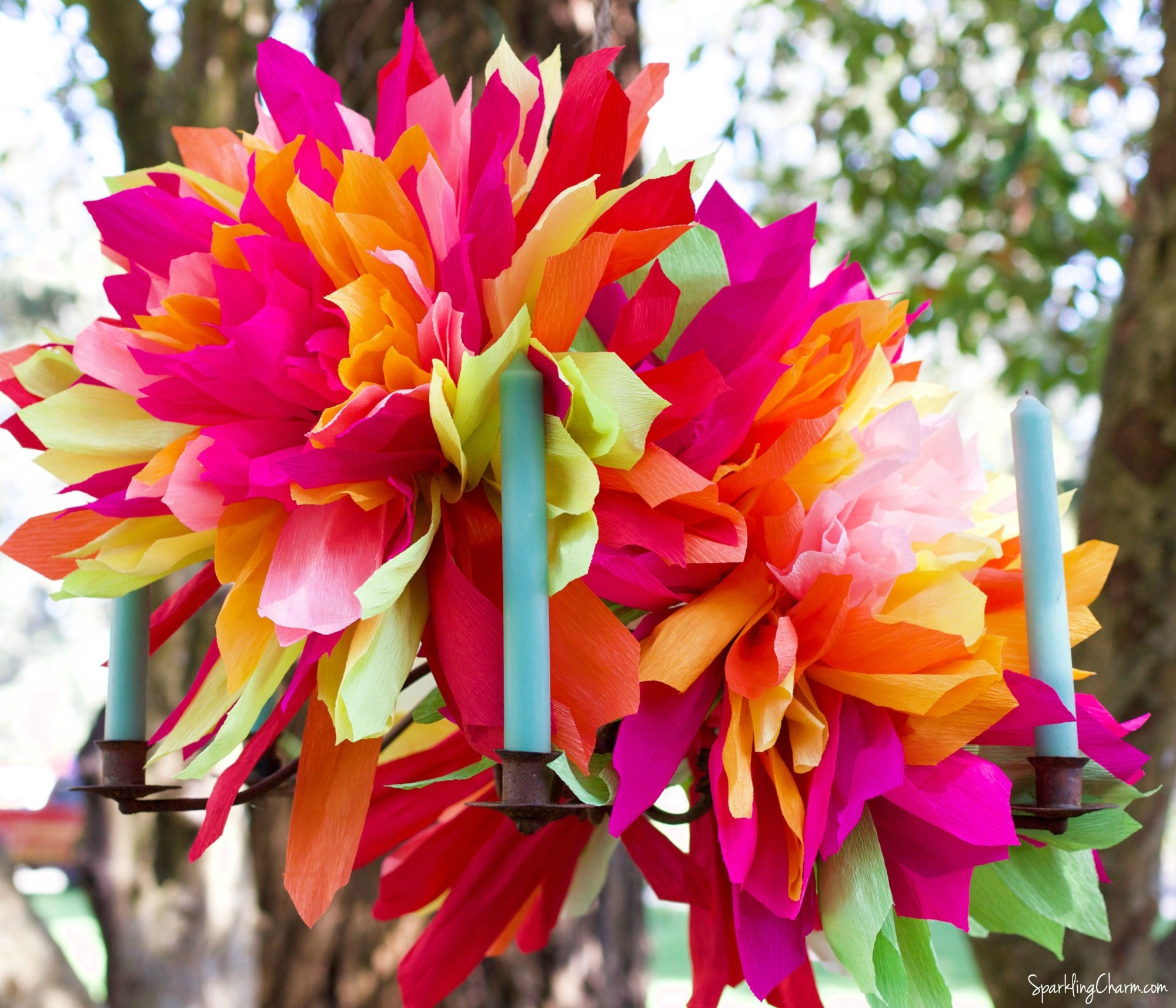 Monday Coffee Break Inspiration Feature:  Crepe Paper Flower Tutorial
