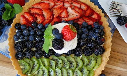 Honey Lime Fruit Tart with Sugar Cookie Crust