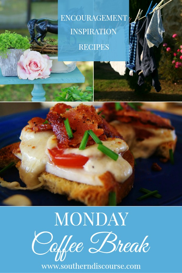 Monday Coffee Break is weekly series filled with Biblical encouragement, hospitality inspiration and a featured recipe to help you live out your week Proverbs 31 strong!  Join us this week for a close look at righteousness and why it's not up to us, how to host your own Kentucky Derby party, and a recipe for traditional Kentucky Hot Browns!  #southerndiscourse #encouragement #inspiration #recipes #kentuckyderby #righteousness