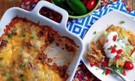 Layered Beef Enchiladas
