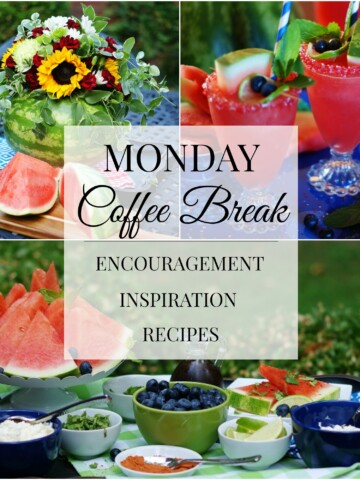 Monday Coffee Break- All about watermelon collage