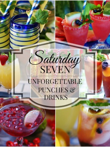 Saturday Seven Unforgettable Punches & Drinks Title Collage