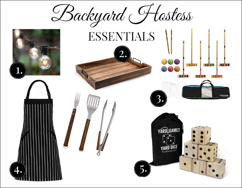 Monday Coffee Break #38 hospitality inspiration feature with my top 5 must haves for backyard hosting this summer.
