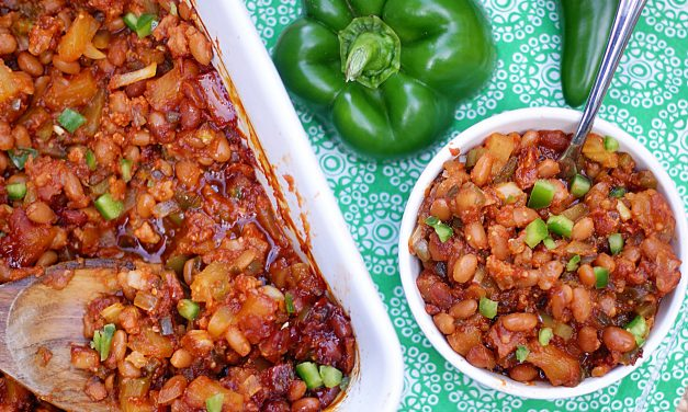 Hawaiian Baked Beans with Pineapple & Bellpepper