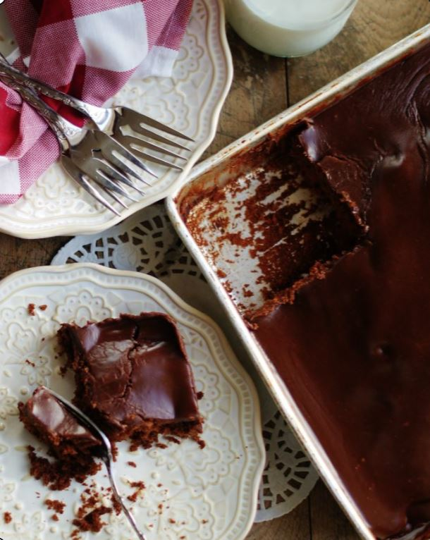 Chocolate Buttermilk Texas Sheet Cake