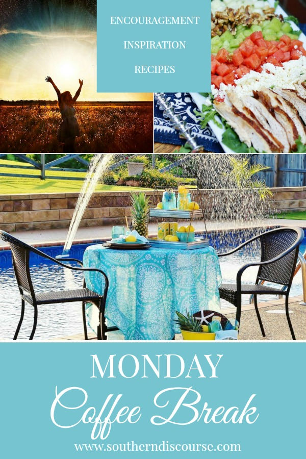 Monday Coffee Break, a weekly series full of Biblical encouragement, inspiration for easy hospitality and delicious recipes to help us live out lives Proverbs 31 strong. This week's Coffee Break features 4 truths my kids need to know about praise & worship, a beach style and top 5 summer reads, and an EASY recipe for a summer melon salad with rotisserie chicken, feta, and walnuts topped with a lemon garlic vinaigrette.  #southerndiscourse #hospitality #brunch #pineapples #praiseandworship #salad #proverbs31woman
