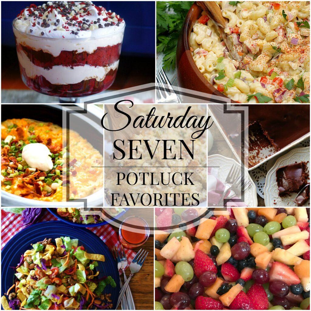 Saturday 7 Potluck Title Collage