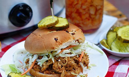 Shredded Chicken BBQ Sandwich (Slow Cooker Recipe)