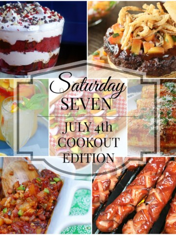 July 4th Cookout Menu Title Collage