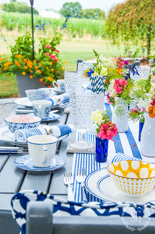 Summer table outdoors