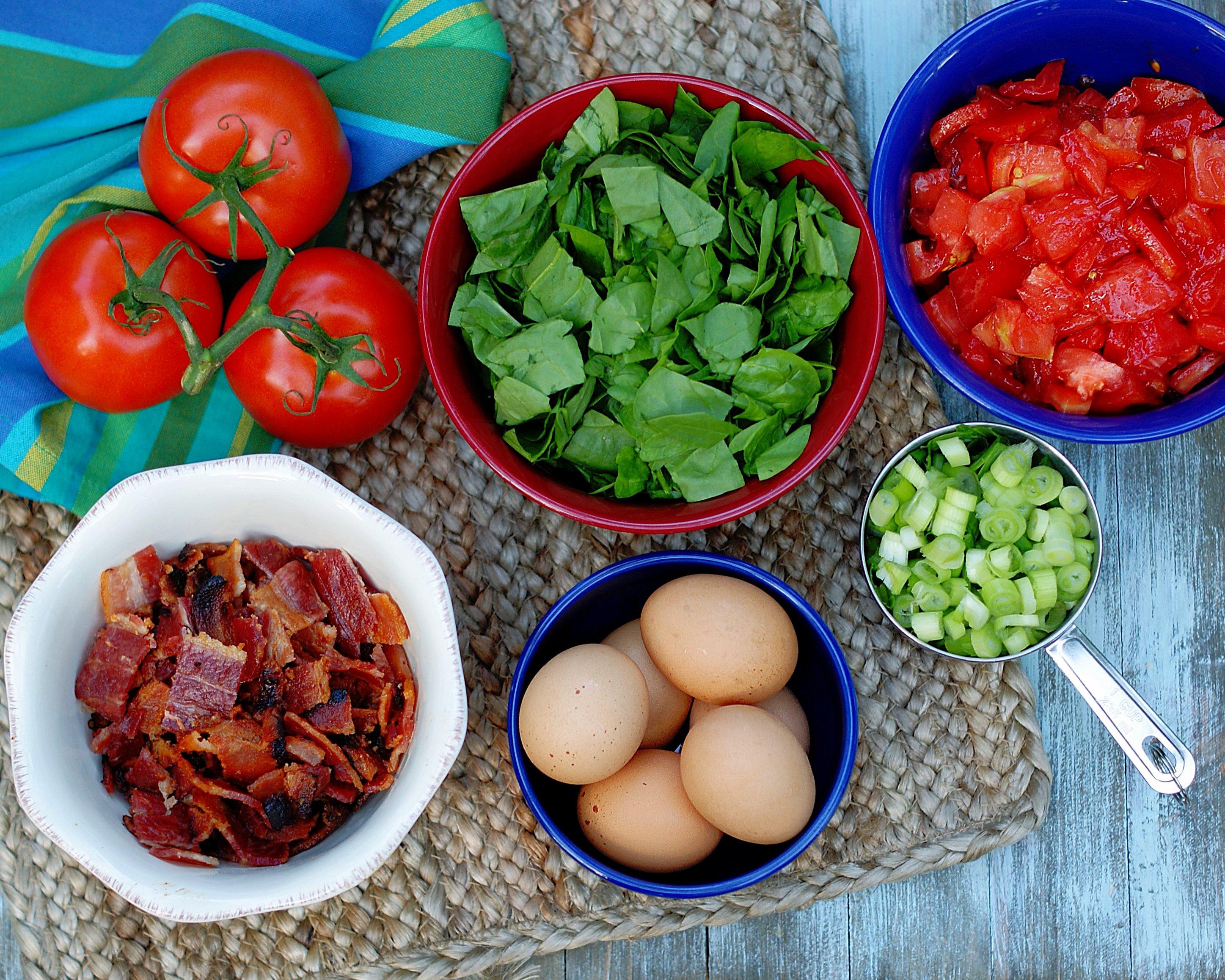 BLT quiche ingredients