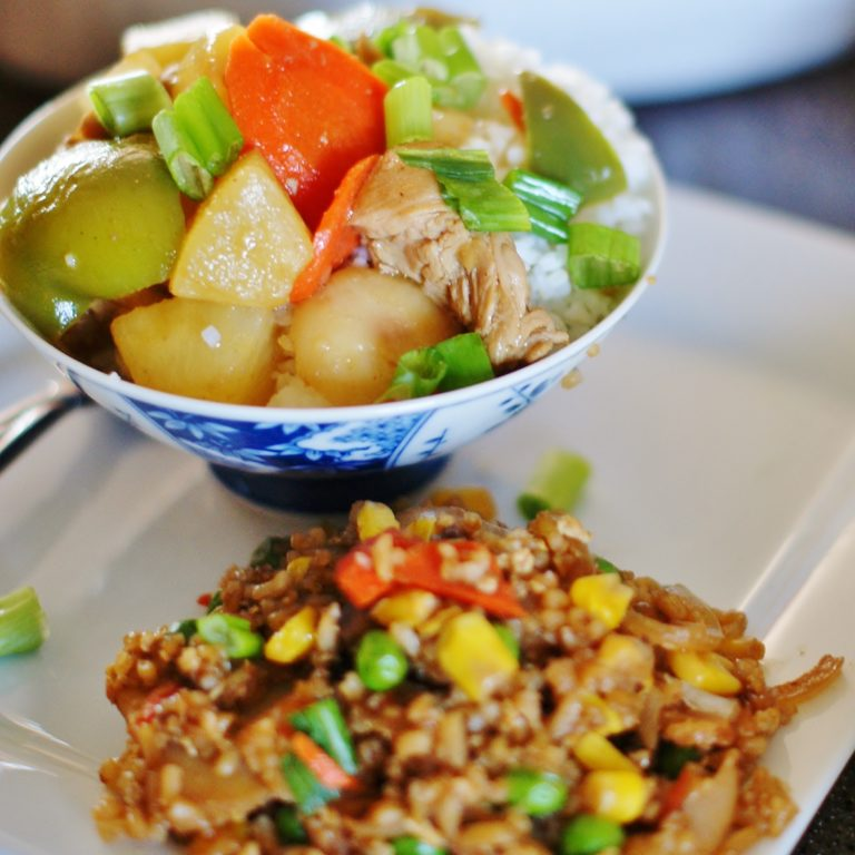 Pineapple Chicken and Fried Rice