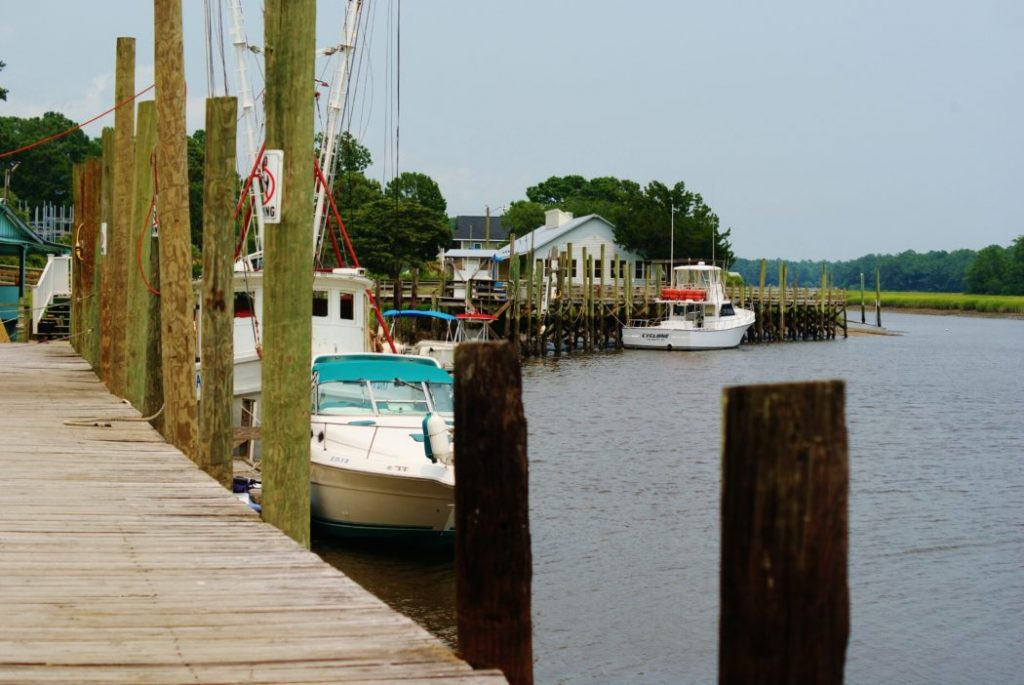 A fishing waterway in Calabash, NC.