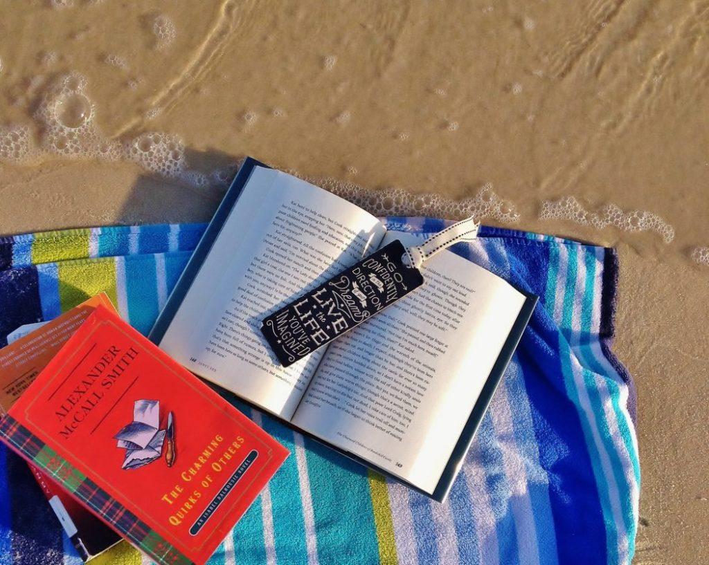 Books on the beach.