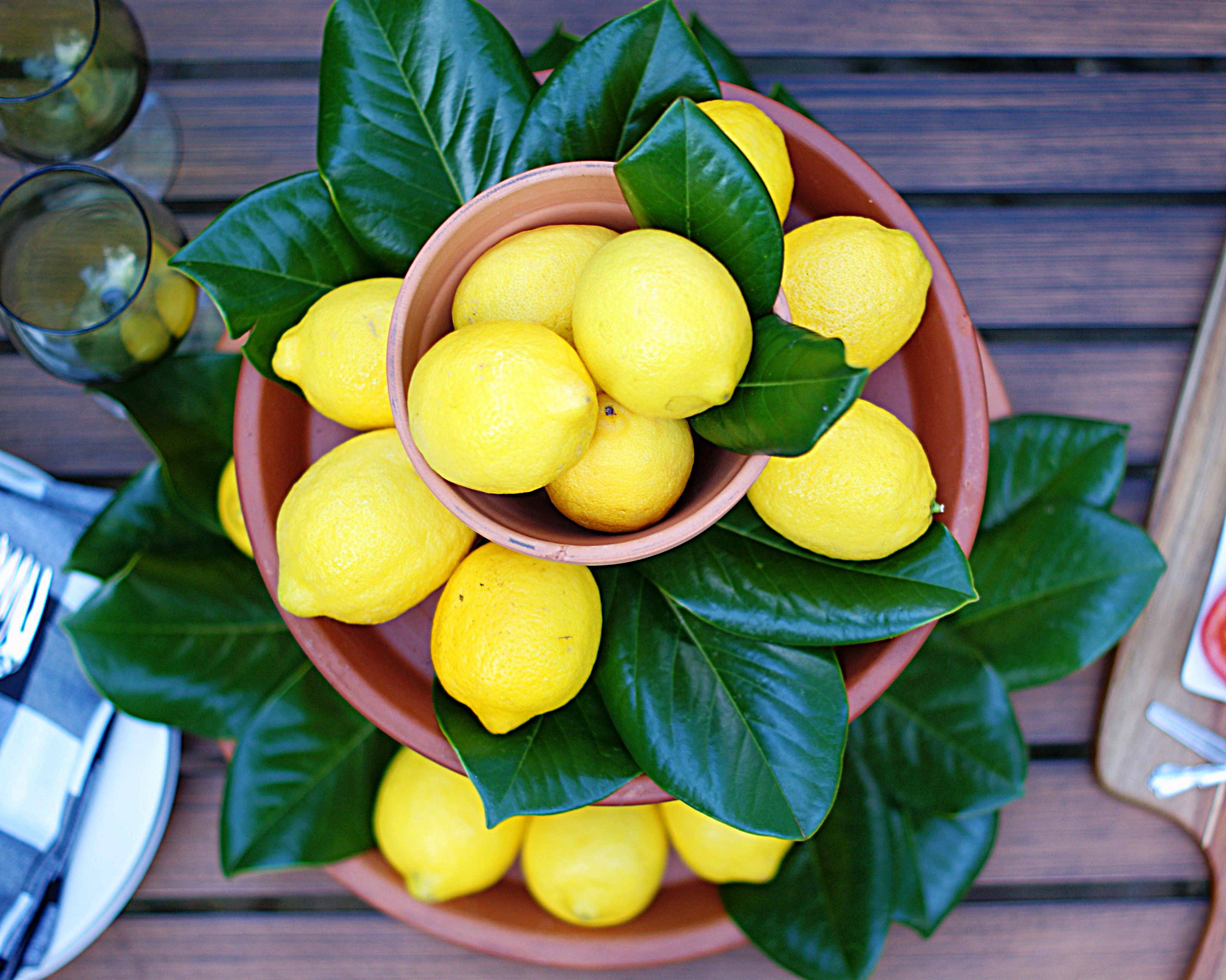 An aerial view Lemon Centerpiece