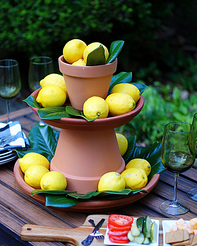 Lemon Centerpiece Step 5- Adding topper