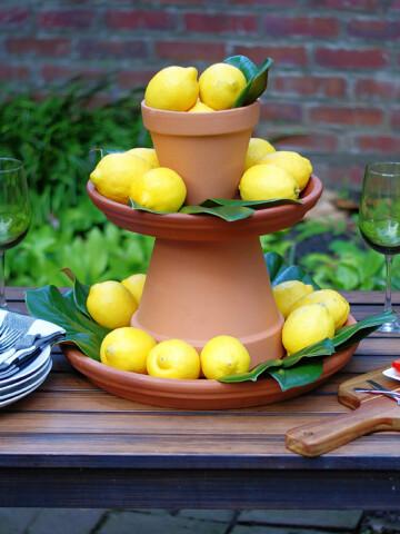 Easy Lemon Centerpiece
