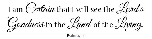 Psalm 27:13