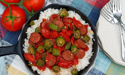 Ultimate Okra & Tomatoes Skillet with Smoked Sausage