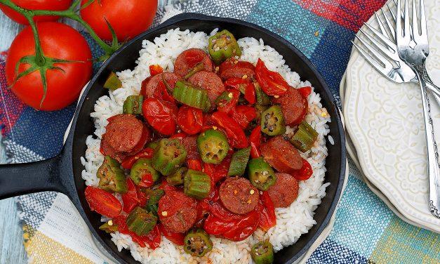 Ultimate Okra & Tomatoes Skillet with Smoked Sausage