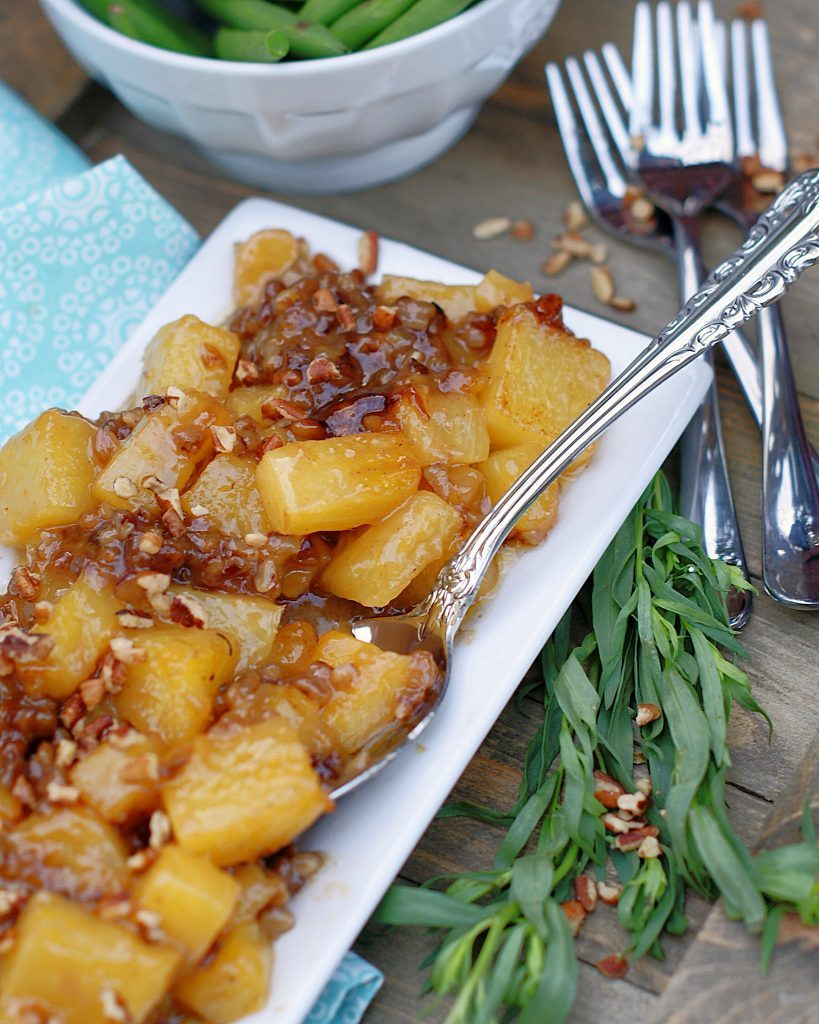 Brown Sugar Roasted Pineapples with pecans