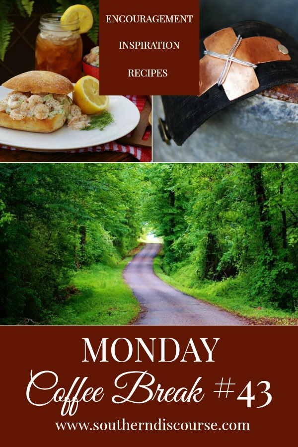Monday Coffee Break, a weekly series full of Biblical encouragement, inspiration for easy hospitality and delicious recipes to help us live out lives Proverbs 31 strong. This week's Coffee Break features the story of a woman who chose to overcome church hurt by creating something new, a little southern summer nostalgia and an easy, delicious recipe for southern shrimp salad and lemon dill mayo. #southerndiscourse #southernsummer #shrimpsalad #churchhurt #healing