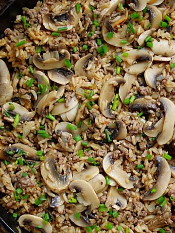 Beef & Mushroom Rice Title