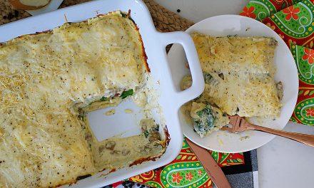 Easy White Ravioli Casserole- A Shortcut Lasagna