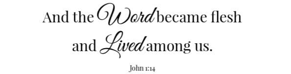 Eggs in a Basket Scripture -John 1:14