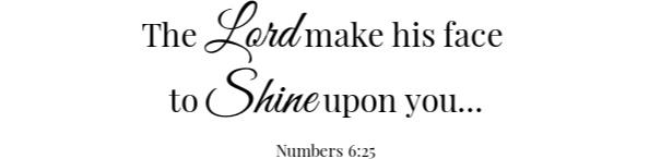 Orange Jello Scripture- Numbers 6:25
