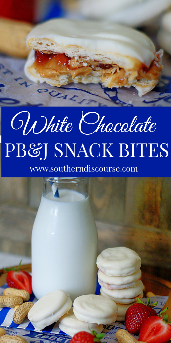 How to make fun peanut butter & jelly snack sandwiches for an after school treat! #bites #ideas #strawberryjam #chocolate #pb&j #southerndiscourse
