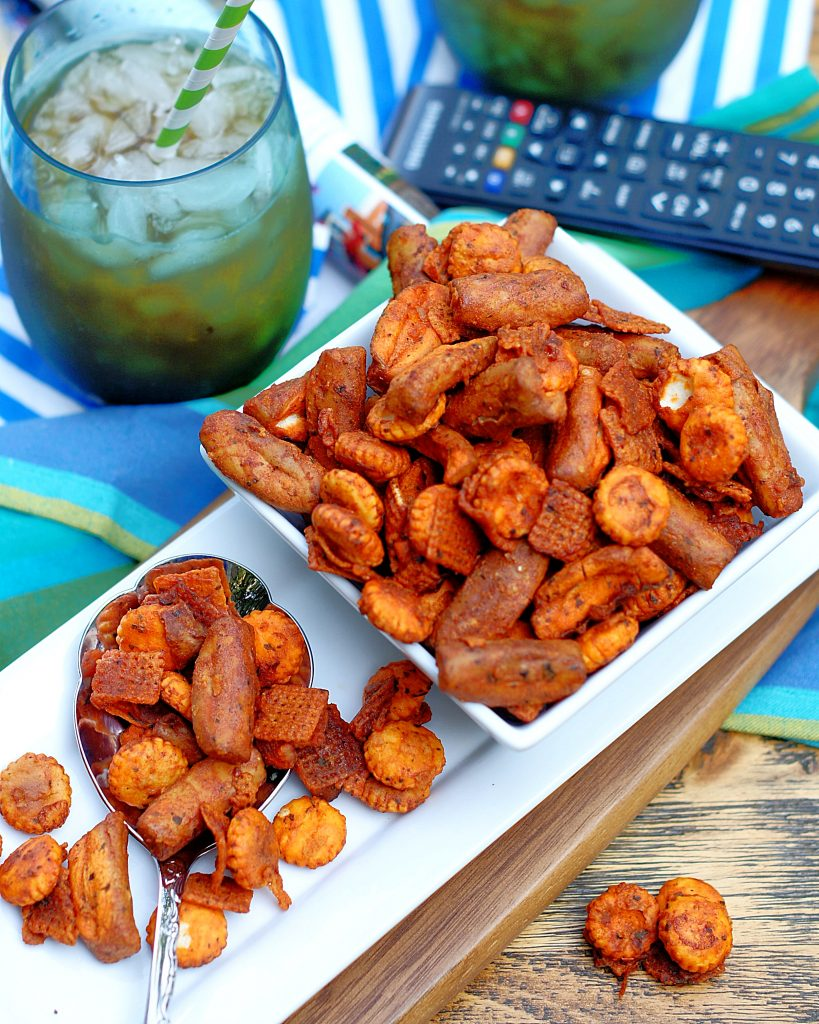 Buffalo Ranch Snack Mix while you watch the game.