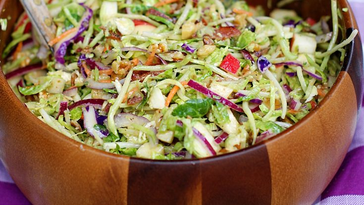Broccoli Slaw with Apples & Brussel Sprouts