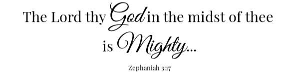 Broccoli Slaw Scripture- Mighty to save Zephaniah 3:17