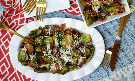 Parmesan Brussel Sprouts with Bacon