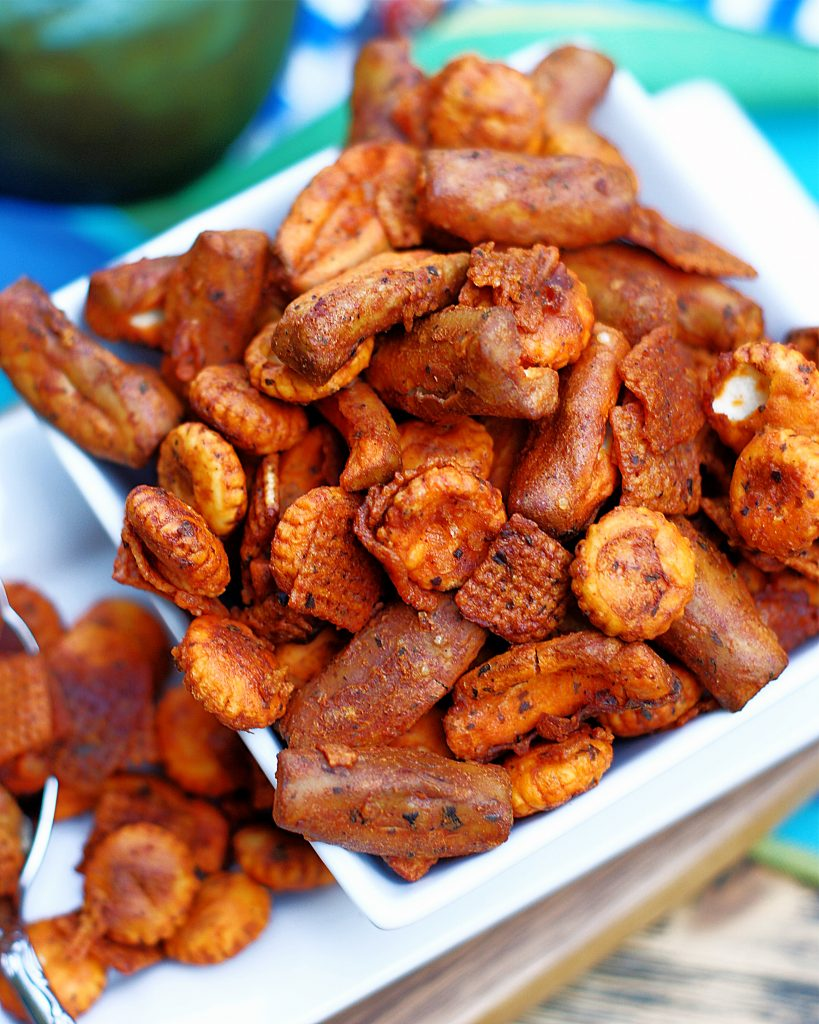Buffalo Ranch Snack Mix Up close