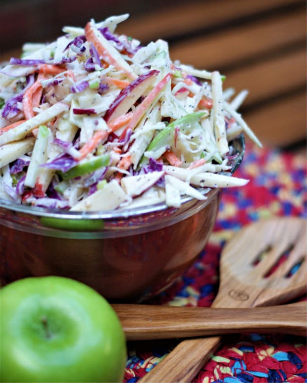 Apple Coleslaw with Buttermilk Dressing