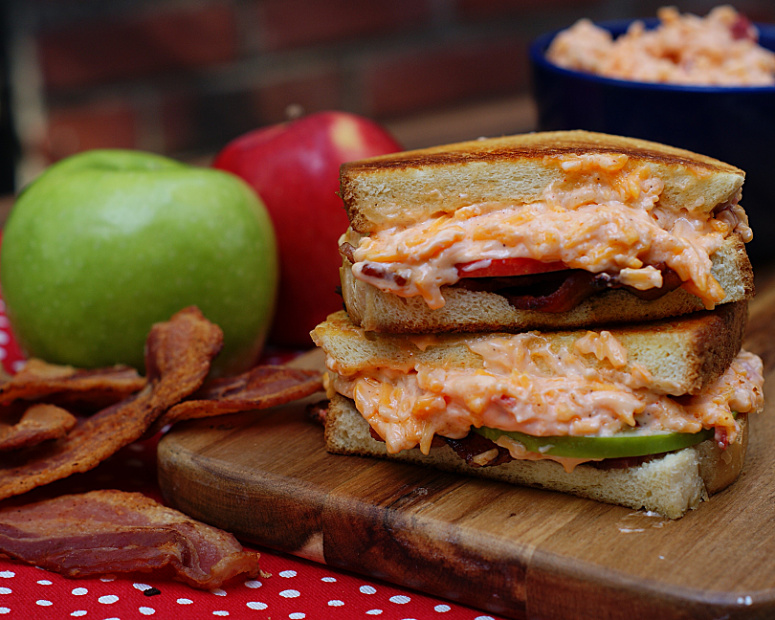 Grilled Pimento Cheese with Bacon & Apples