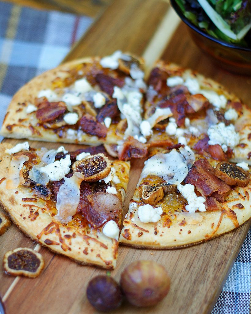 Bacon Fig Pizza Slices