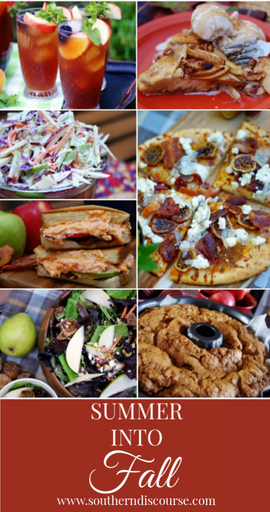 7 delicious recipes to bridge the gap between summer and fall!  #southerndiscourse #fall #earlyfall #apples #bacon #pears #figs