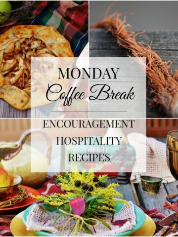 Monday Coffee Break Fall Edition #52 Title Collage