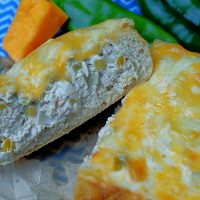 Green Chile Cheese bread upclose