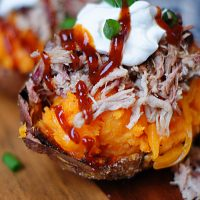Loaded Sweet Potato Skins Up Close