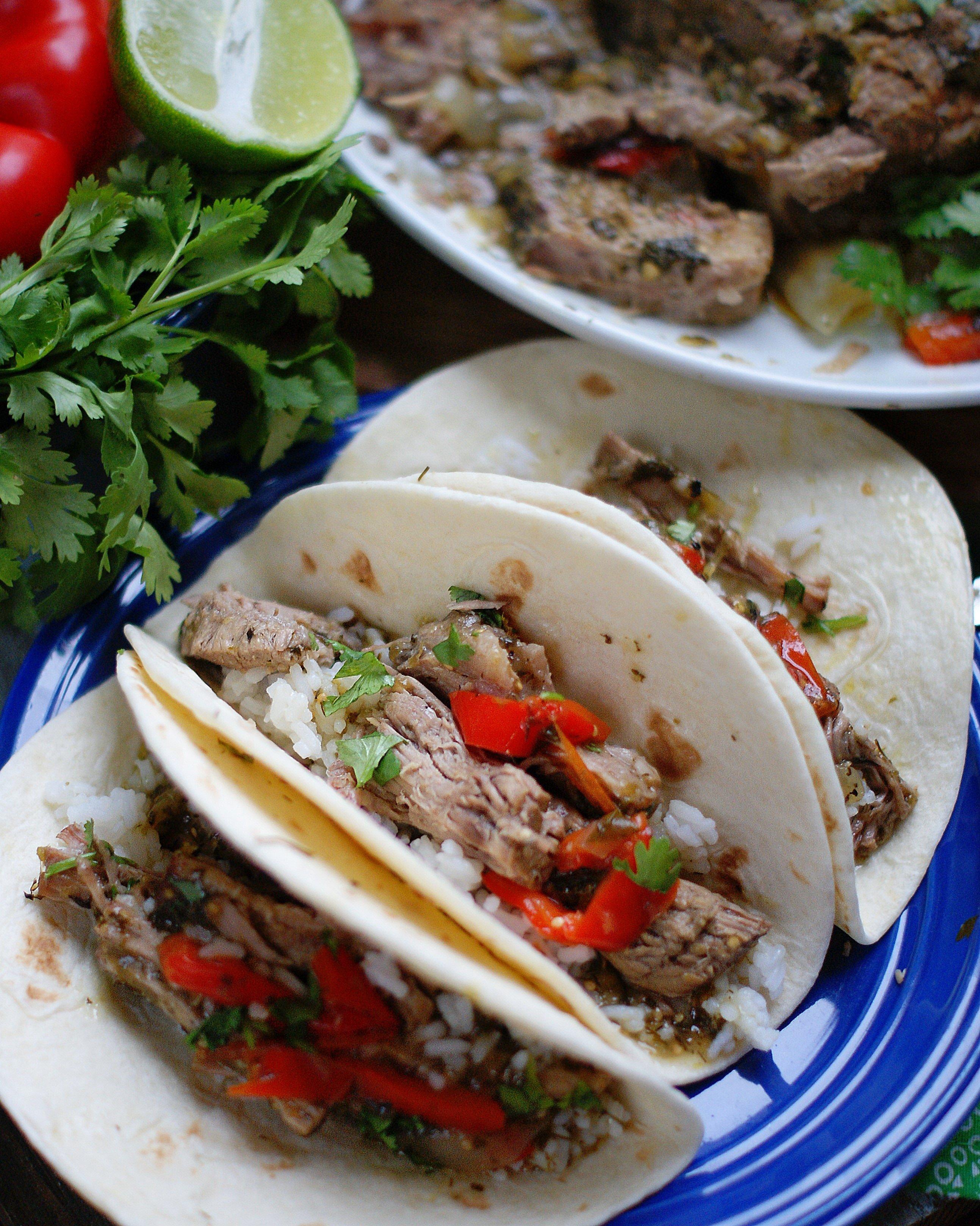 Mexican Pot Roast In Tortillas